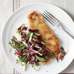 Turkey Schnitzel with Radicchio Slaw
