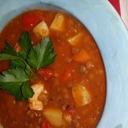 Tuscan Chicken Lentil Stew