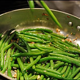 Sauteed green beans and spinach