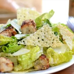 Chicken Caesar Salad w/ Homemade Cheese Crisps