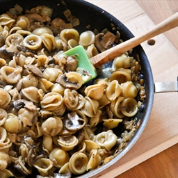 Mushroom Orecchiette with Cream