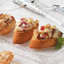 Apple-Goat Cheese Bruschetta