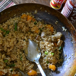 Vegetable Tofu Fried Rice w/ No Added Oil