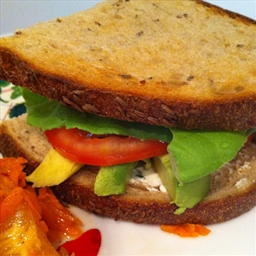 Vegetarian BLT with Avacado