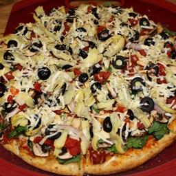 Veggie Deluxe Homemade Pizza