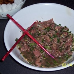 Vietnamese Rare Beef with Lime