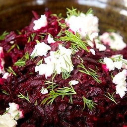 Warm beetroot with cumin and feta
