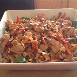 Warm Chicken And Cashew Stir-Fry Salad