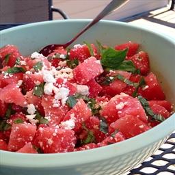 Watermelon, Feta and Basil Salad