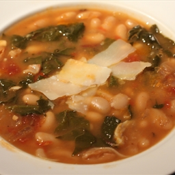 White Bean and Escarole/swiss Chard Soup