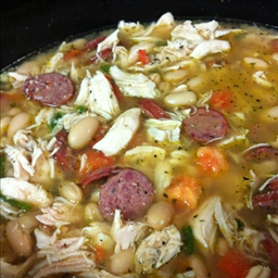 White Bean Chicken Sausage Soup