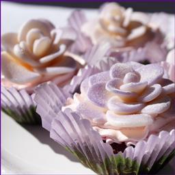 White Chocolate Plastic Roses