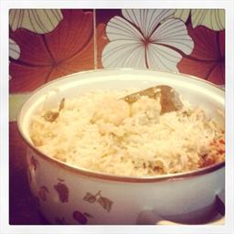 White Prawn Biryani Indian famous dish with a twist