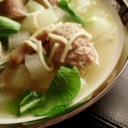 Wintermelon With Meatball Soup