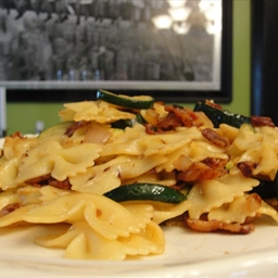 Zucchini and Bacon Pasta (5)