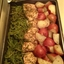 Baked chicken, green beans and red potatoes