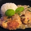 Basil Chicken in Coconut-Curry Sauce