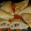 Calzones with mushroom and cheese filling
