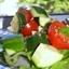 Cherry Tomato Cucumber Provalone Salad