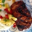 Chili- Rubbed Pork Chops w/ Grilled Pineapple Salsa