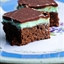 Creme De Menthe Brownies