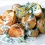 Garlic-Roasted Fingerling Potatoes with Buttermilk-Yogurt Herb Dressing