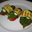 Grilled Zucchini Wraps with Tomatoes and Goat Cheese
