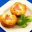 Ham Quiche Biscuit Cups