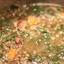 Lentil Soup with Smoked Sausage and Spinach