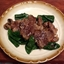 Loin Lamb Chops with Fresh Spinach and Mushroom