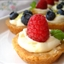 Mini Fruit Tarts Filled with a Lemon Curd Mousse and a Shortbread crust