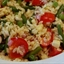 Pasta Salad with Corn, Green Beans, Tomatoes