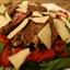 Seared Rib-eye Steak with Arugula-roasted Pepper Salad