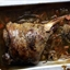 Slow-cooked leg of lamb with thyme