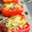 Slow Cooked Stuffed Red Bell Peppers