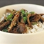 Stir-fry lamb with chilli & mint