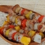 Tex-mex Pork Kabobs with Chili Sour Cream Sauce