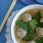 Thai meatball and herb soup