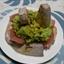 Tuna with Avocado And Wasabi Compote And Chinese Taro Potat