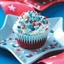 Patriotic Ice Cream Cupcakes