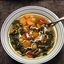 Vegan sweet potato and kale soup