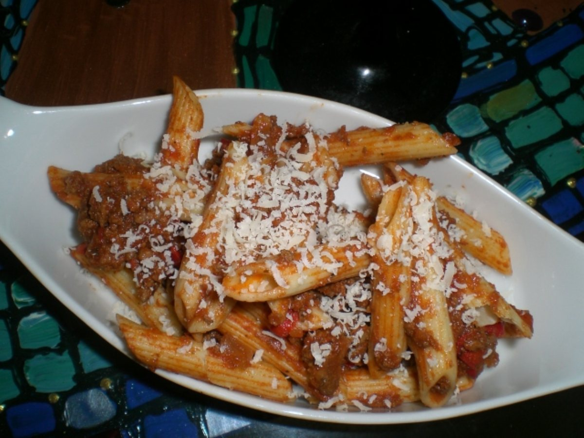 ... Main Dish Main Dish - Other Southwest Penne Pasta With Meat sauce