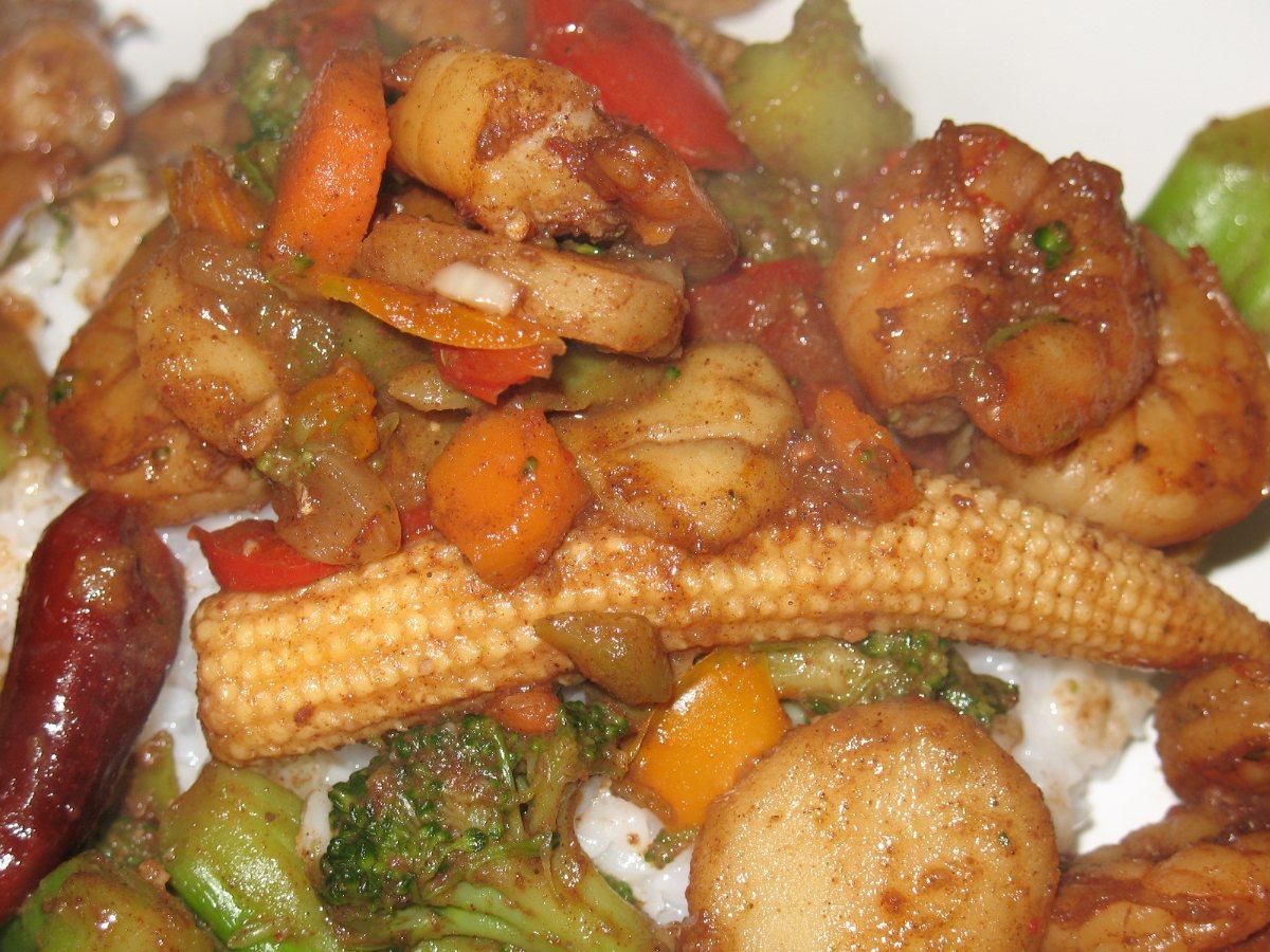 Recipes Course Main Dish Stir-Fries Spicy Shrimp Stir Fry