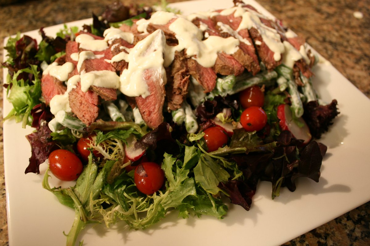 Steak Salad With Tomato Vinaigrette Recipes — Dishmaps