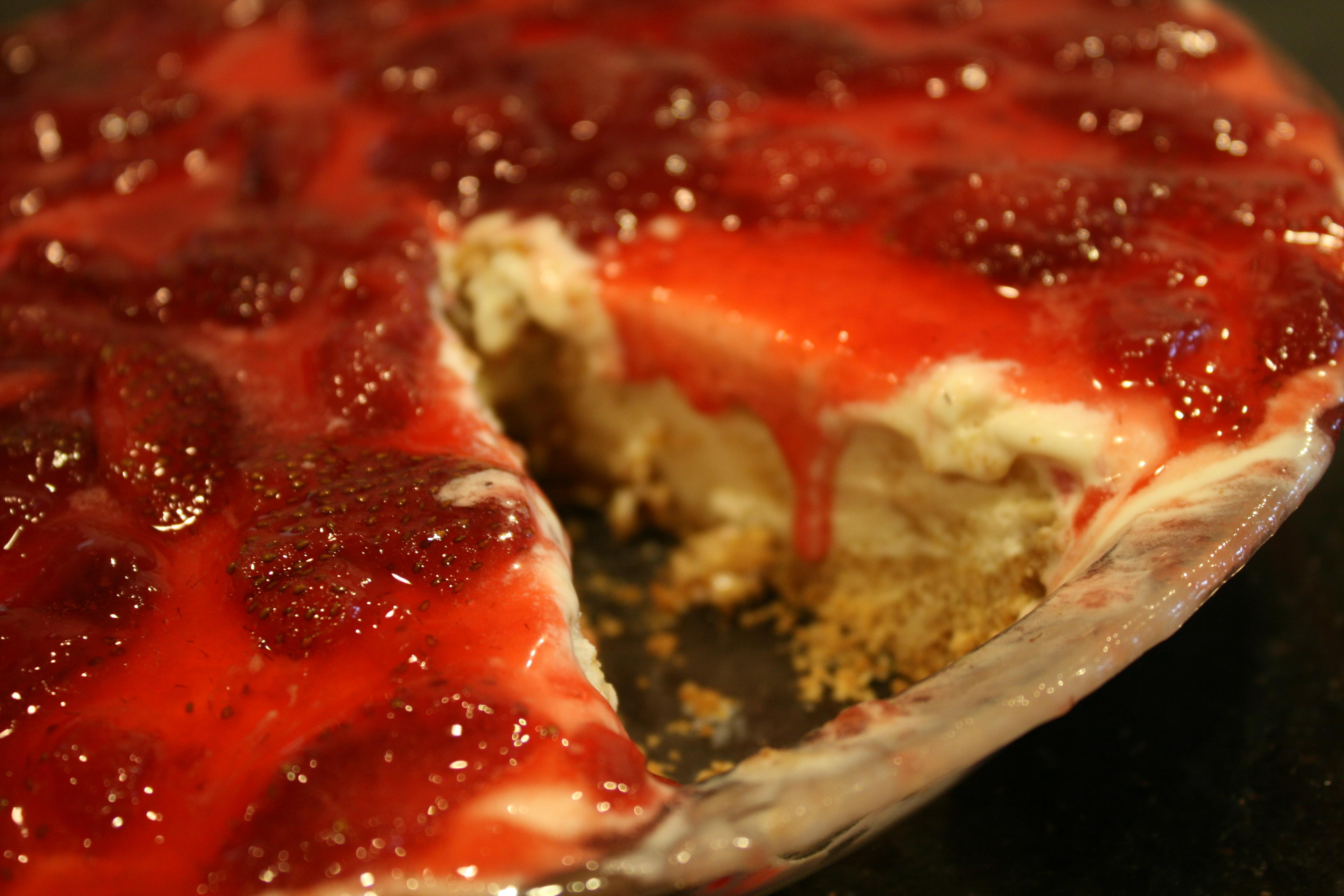 Recipes Course Desserts Pies Strawberry Cheesecake Ice Cream Pie