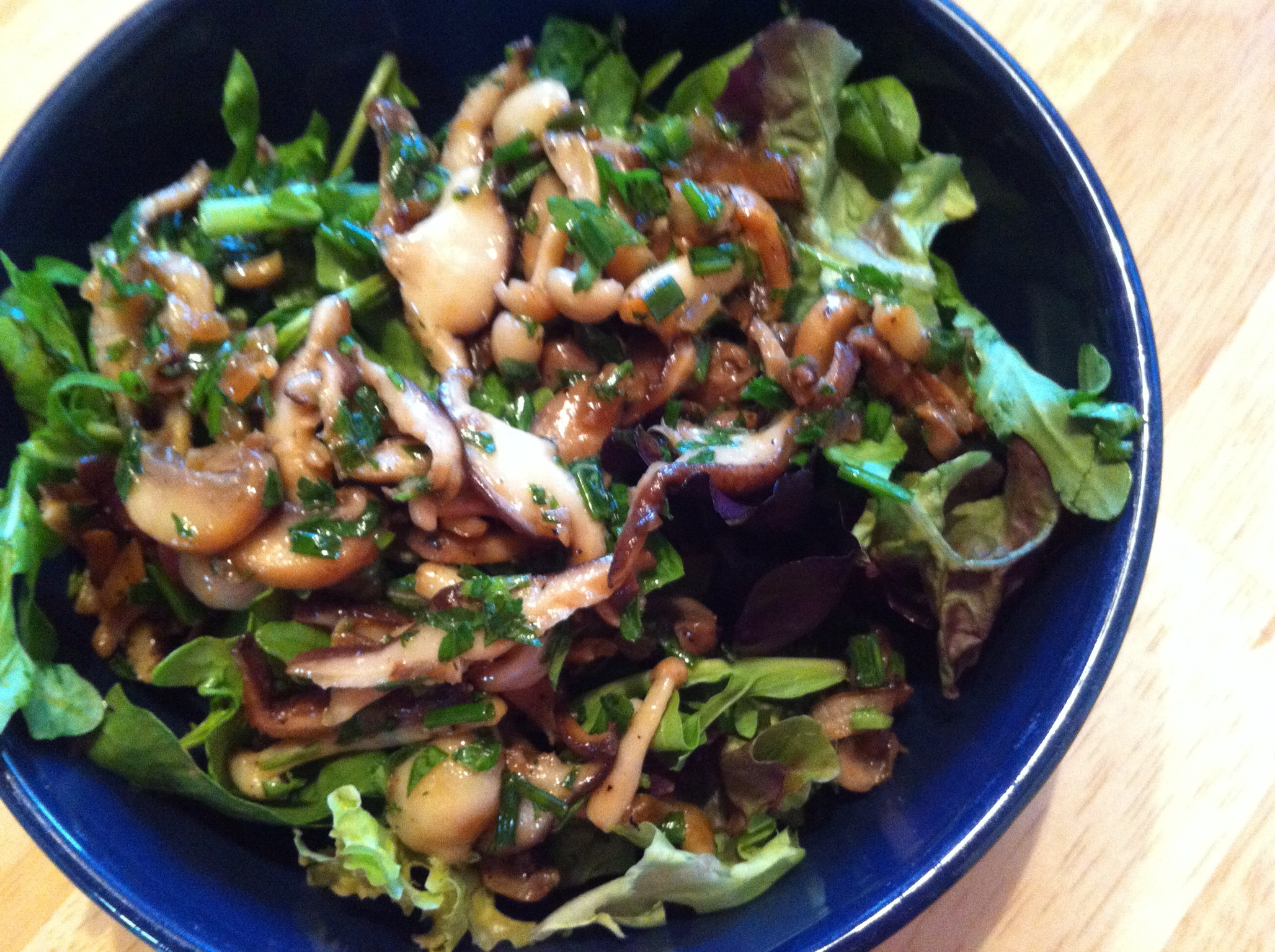 Recipes Course Salad Green Salads Wild Mushroom Salad with Balsamic ...